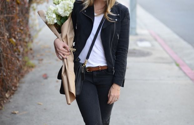 Rag & Bone Jeans, Club Monaco Jacket (similar here), Illesteva Sunglasses, T by Alexander Wang Shirt,  Madewell Belt, Coach Bag, Matisse Boots