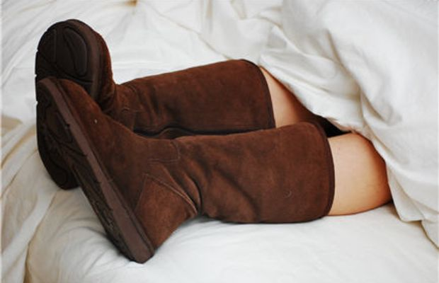 {Ugg boots in the early morning}