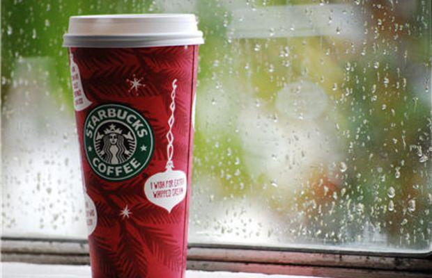 {Coffee on a rainy morning}