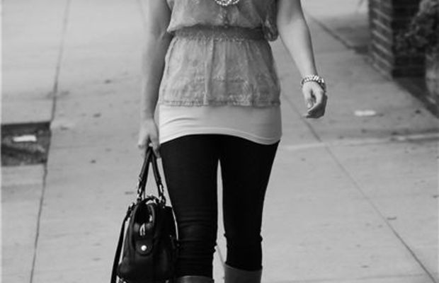 ShantillyBow Tie Necklace, Topshop Blouse, Anthropologie Tank Top, Michael Kors Watch, Citizen of HumanityAvedon Skinny Jeans, Coach Boots, Gryson Bag