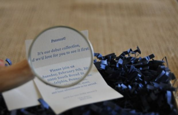 {Cutest invite ever. Inside the box was a tiny note with a magnifying glass}