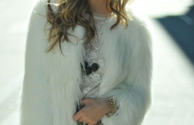 Zara Coat, Forever 21 Top, Anthropologie Skirt, Handmade Necklace, Hue Tights, Seychelles Boots, Vintage Clutch