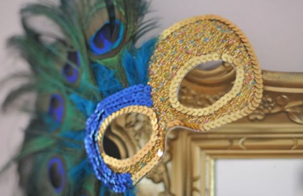{My Mardi Gras mask that now lives on the gold mirror in my office}