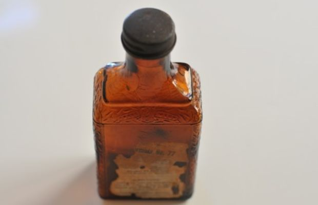 {A perfectly worn bottle that I plan to use as a vase}