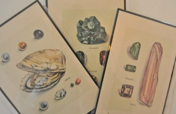 {A set of geode prints (thanks, Raina!) that I can't wait to frame}