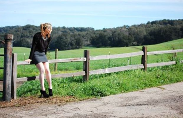 {On a country road in Paso Robles}