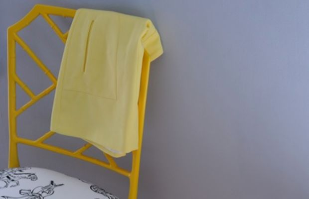 {Citrus hues in the bedroom: re-done chair + Zara skirt}