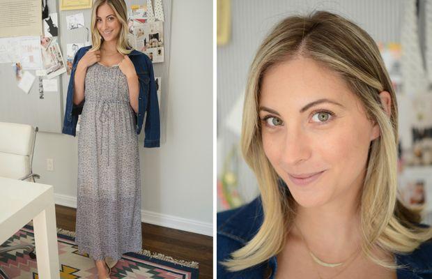 {Tuesday: Urban Outfitters Dress, Levis Jacket, Jenni Kayne Flats}
