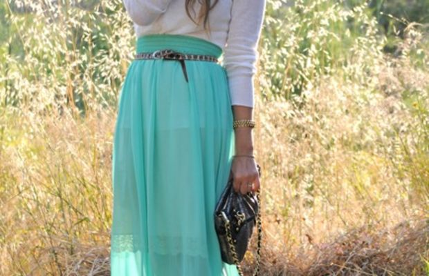 J.Crew Sweater, American Apparel Skirt, Vintage Aviators, Slip and Belt, Dannijo Bracelet, Coach Clutch, Marni Heels