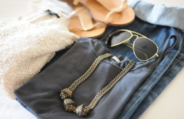 {Outfit set aside for the plane ride}
