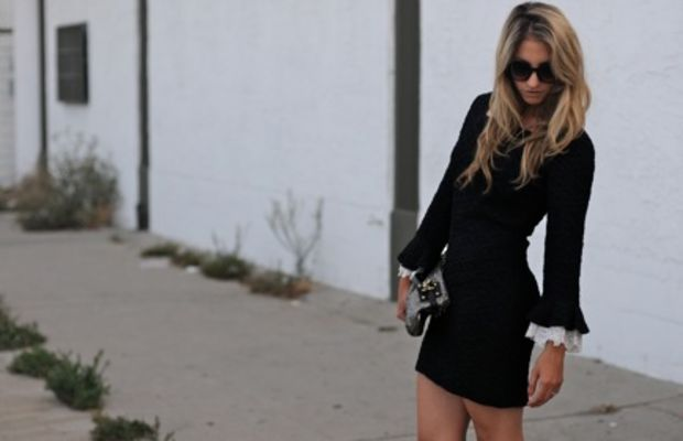 Pencey Booties,Vintage Dress, Free People Sunglasses, Coach Clutch
