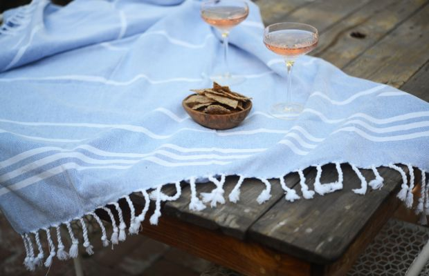 {Rosé, chips, and my favorite turkish towel}