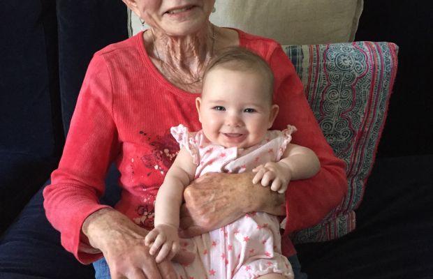 {Sloan and her Great Grandma}
