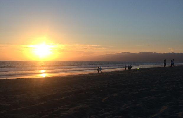 {End of summer Santa Monica beach sunsets}