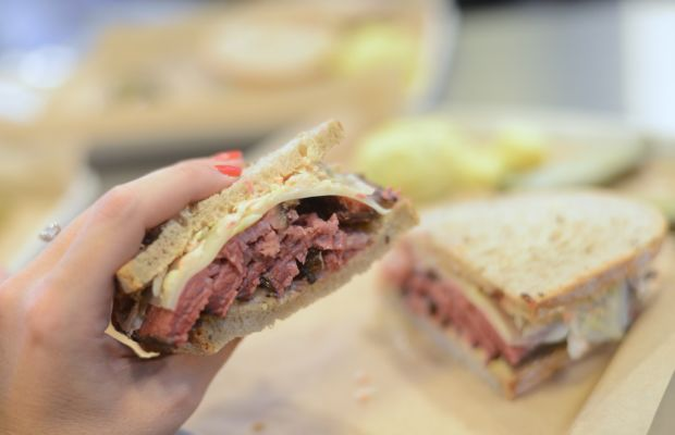 {I love that Wexler's Deli is walking distance from our office}
