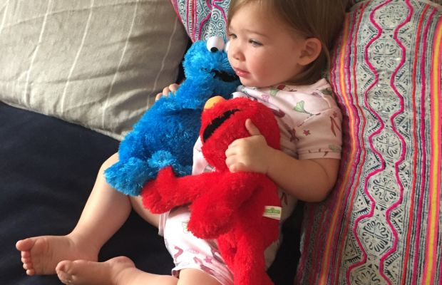 Settled in to watch 'Sesame Street'