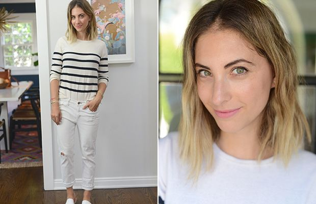 APC Sweater (on sale), McGuire Jeans (similar here), Ancient Greek Sandals (similar here), Topshop 'Flush' Lip Stain
