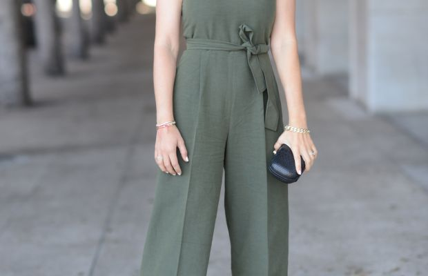 Club Monaco Jumpsuit (also available here), Robert Clergerie Platforms, Alexandra DeClaris Clutch
