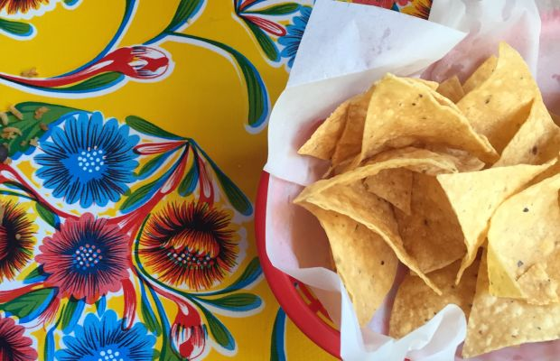 {Not pictured: salsa and margaritas at our favorite Mexican spot in Mill Valley}
