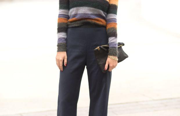 Vintage Sunglasses, Isabel Marant Etoile Sweater, Opening Ceremony Pantsc/o, Zara Pumps, Clare V Clutch