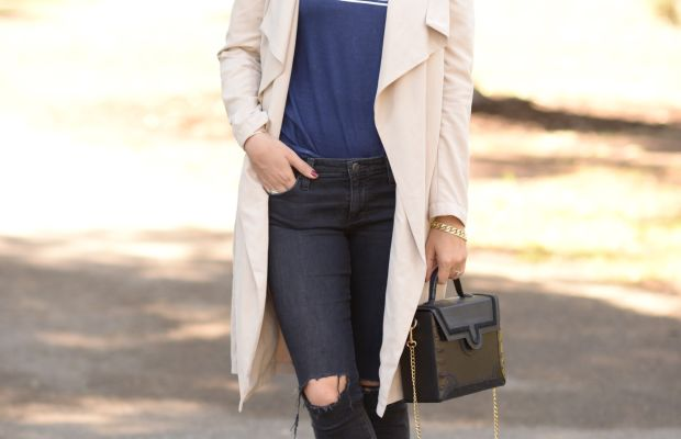 Celine Sunglasses, J.Crew Scarf, Cupcakes and Cashmere Trench(similar here), Vintage Shirt, AG Jeans, Alexander Wang Booties
