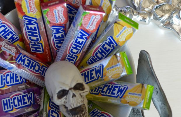 {Our office obsession with Hi-Chew candies has reached new levels now that Halloween is here}