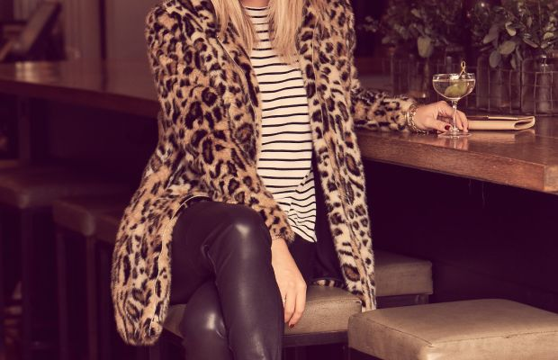 Cupcakes and Cashmere coat, shirt, and faux leather leggings, Zara pumps