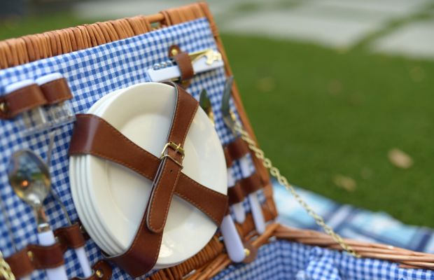 {Beautiful weather made a November picnic possible}