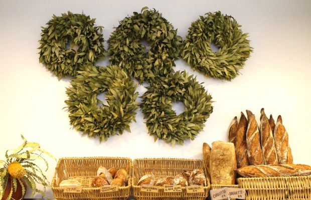 {A stunning, rustic display at a local market}