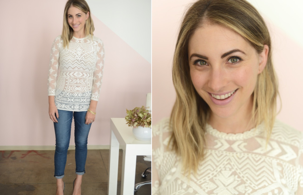 Tuesday: Isabel Marant x H&M, AG Jeans, Manolo Blahnik Pumps, MAC 'Snob' Lipstick