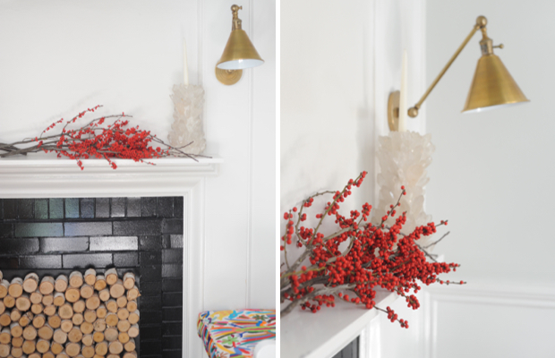 Pops of red to punch up our mantle