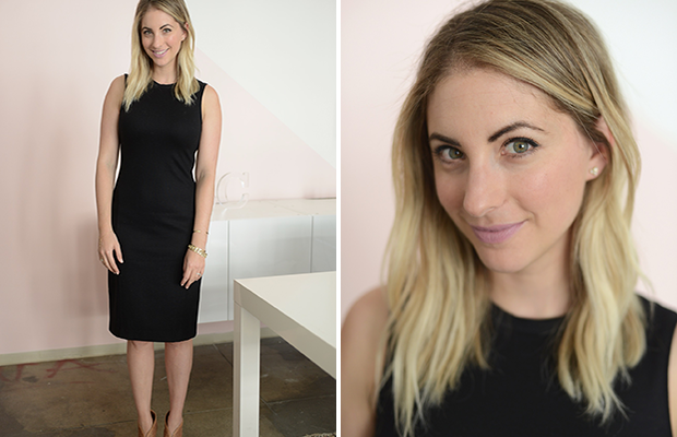Monday: Theory Dress (similar here), Prada Heels, MAC 'Snob' Lipstick