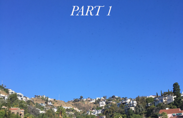 A view of The Hills over Sunset Boulevard