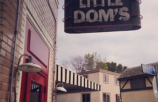 Little Dom's in Los Feliz on a cloudy day