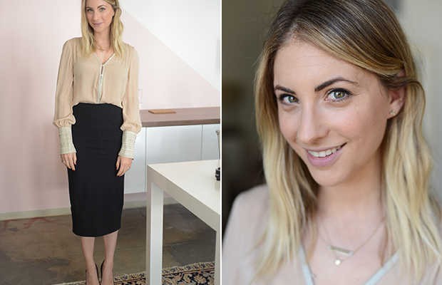 Thursday: Elizabeth and James Shirt, Veronica Beard Pencil Skirt(on sale here, in limited sizes), Manolo Blahnik Pumps