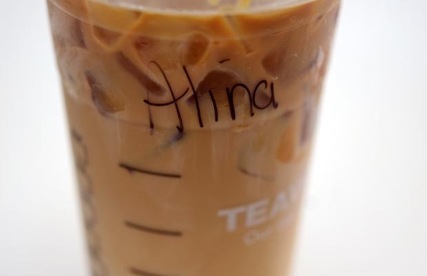 {Friday's breakfast drink: venti iced caramel macchiato from Starbucks}