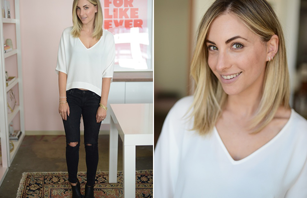 Friday: Club Monaco Top (now on sale), AG Jeans (similar here), Alexander Wang Booties