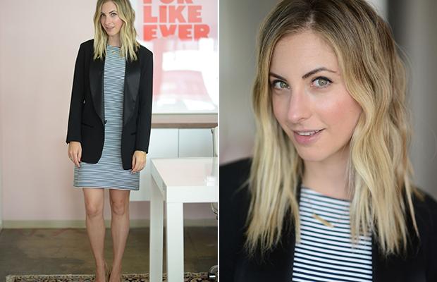 Monday: Isabel Marant x H&M Blazer, Theory Dress, A Detacher Shoes