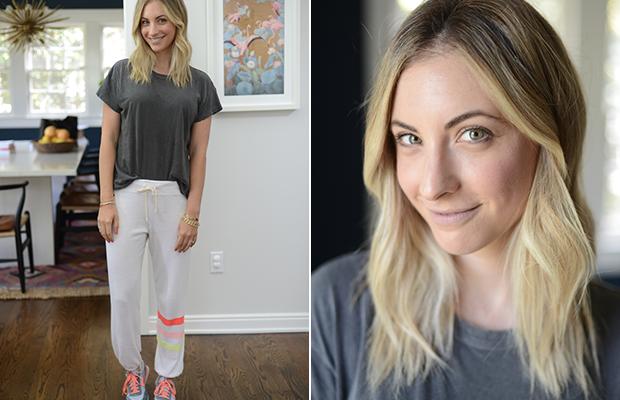 Friday: The Great Shirt, Sundry Sweatpants, New Balance Shoes