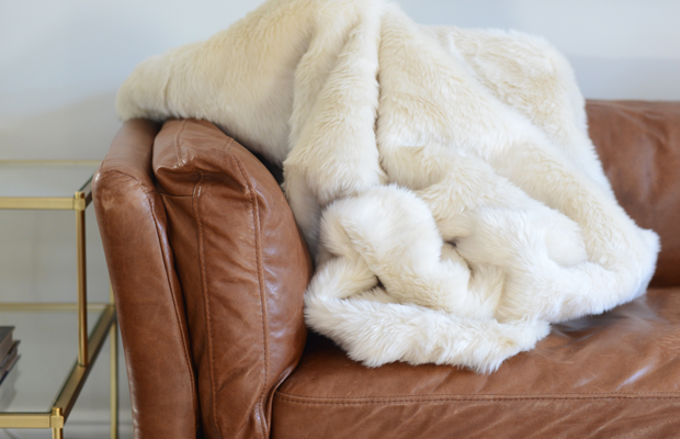 {A (faux) furry throw for chilly nights}