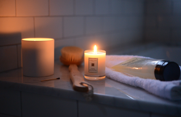 {My current favorite leisure activity: baths at dusk}