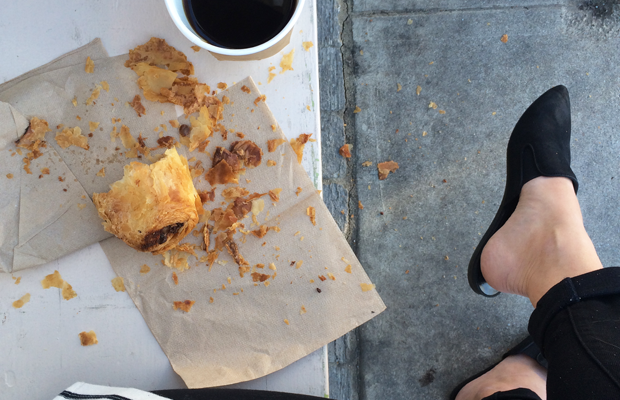 {The flakiest chocolate croissant at Gjusta}