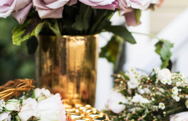 {AERIN's 'Rose de Grasse' perfume + flower crowns}