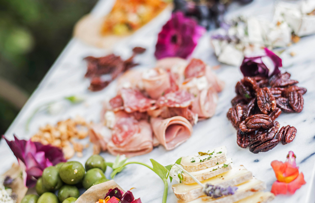 {A colorful assortment of appetizers}