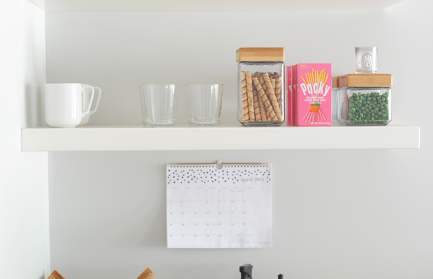 {Canisters, baskets, low tumblers, mugs from Target}
