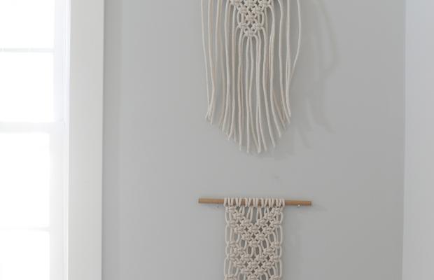 {Macrame wall hangings from Minnie Jo}