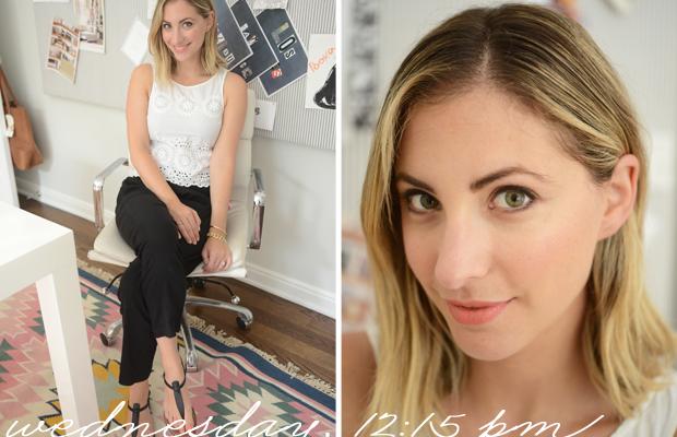 {BB Dakota Top, Theory Pants, Sam Edelman Shoes, Too Faced 'Prim & Poppy' Lipstick}