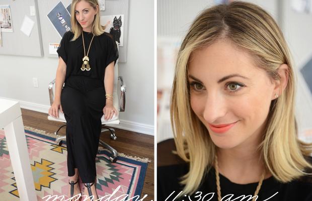 {Heather Maxi Dress, Sam Edelman Sandals, Anthropologie Necklace, Revlon 'Orange Flip' Lipstick}