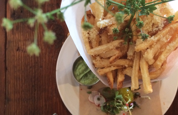 {Truffle Fries with the prettiest sprig}