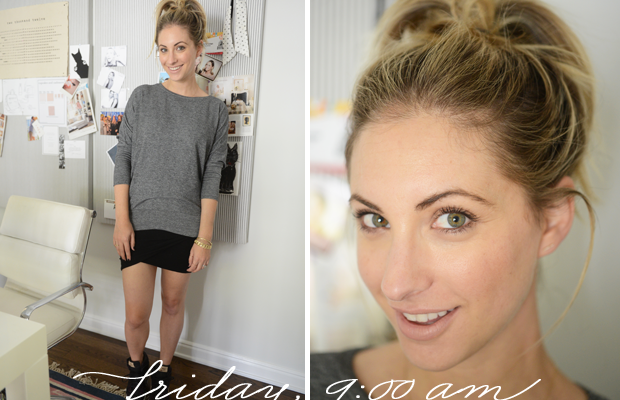 {Forever 21 Sweatshirt, James Perse Skirt, Nike Shoes, Tom Ford 'Nude Vanille' Lipstick}